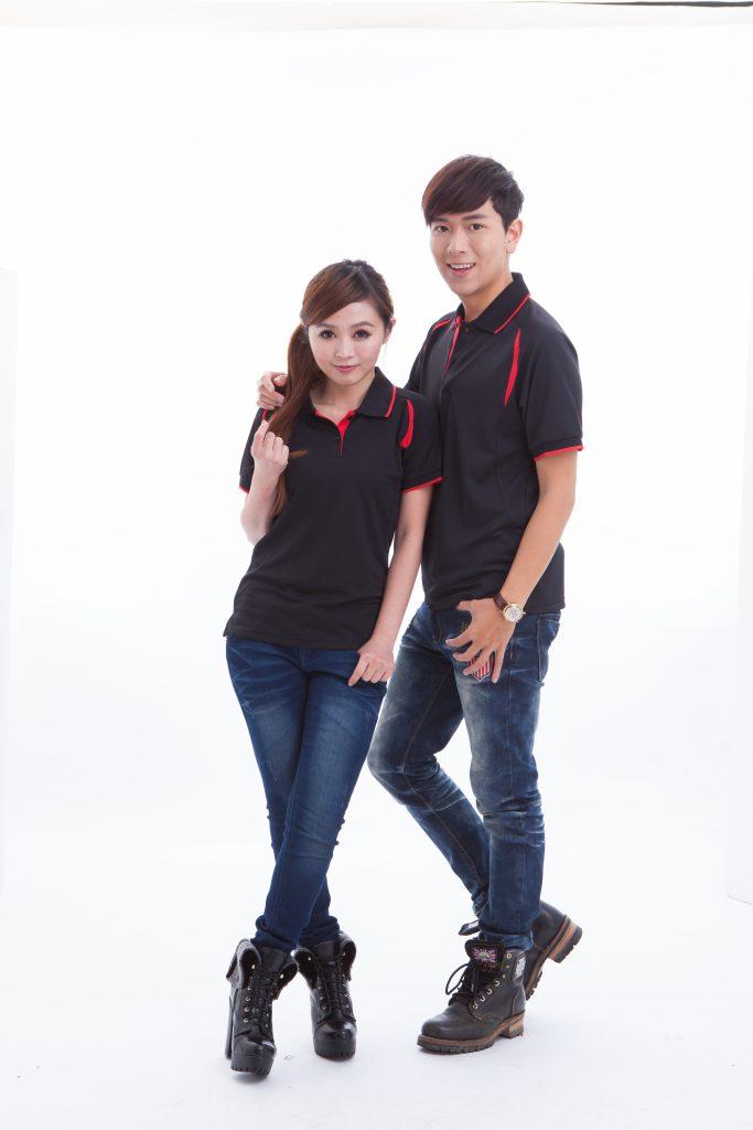 906-3 (女)黑配紅 _ 806-3 (男)黑配紅